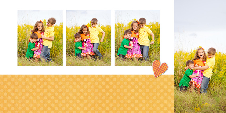 Custom album design layouts by HappyFish Design and Post-Production