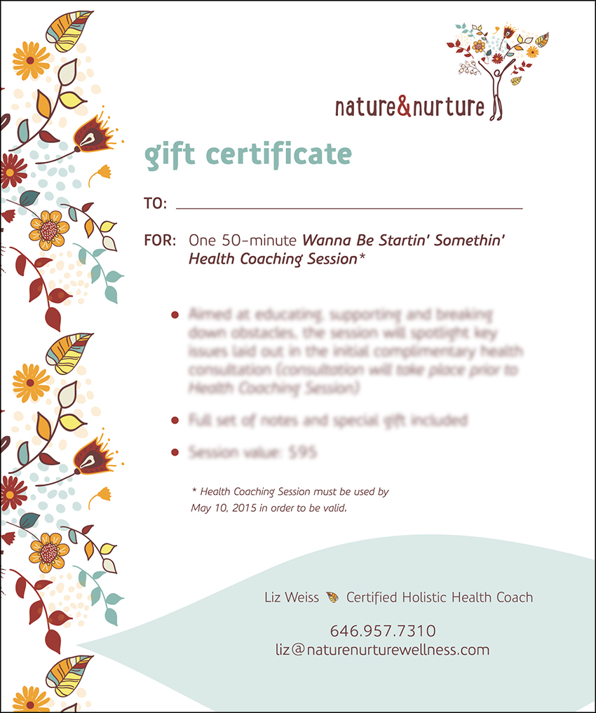 Graphic Design Gift Certificate
