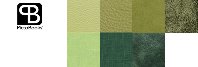 Picto cover swatches in green